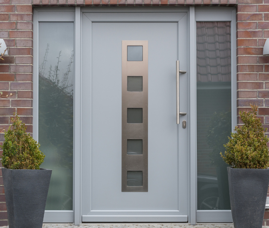 dove grey upvc front door